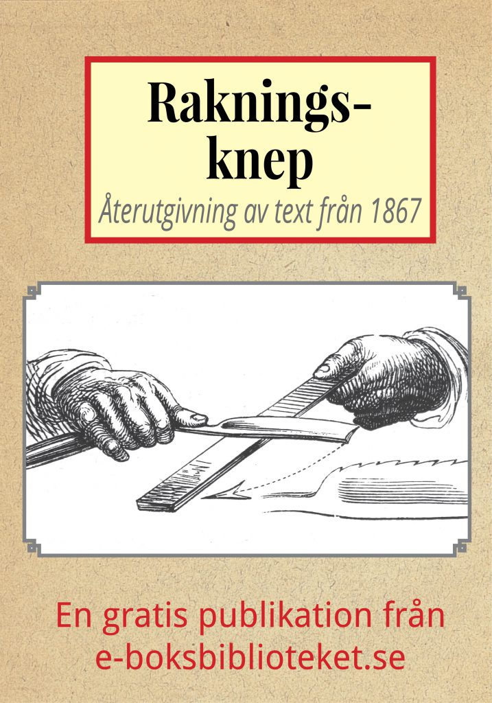 Book Cover: Rakningsknep år 1867