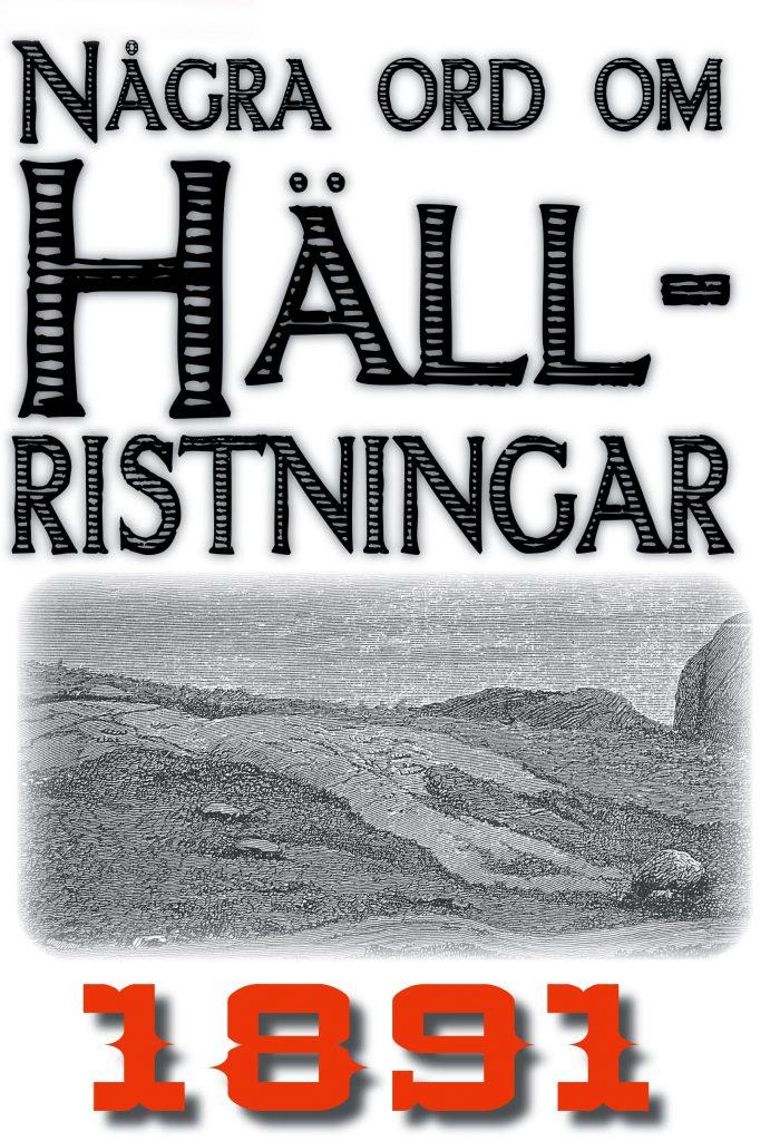 Book Cover: Några ord om Bohusläns hällristningar
