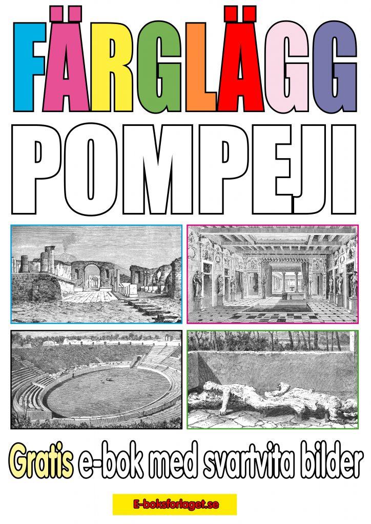 Färglägg ruinstaden Pompeji