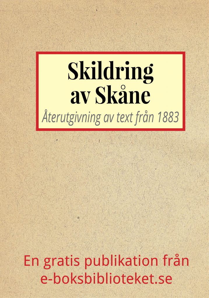 Book Cover: Skildring av Skåne