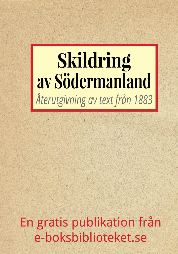 Book Cover: Skildring av Södermanland