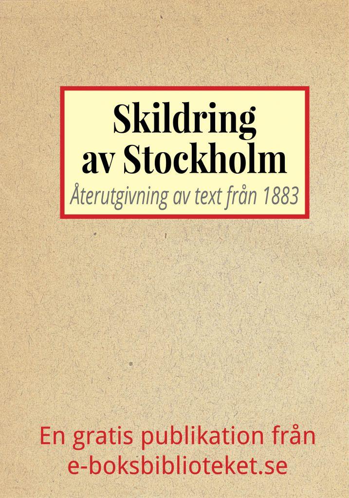 Book Cover: Skildring av Stockholm