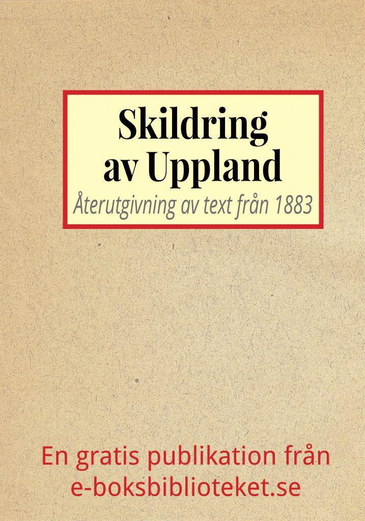 Book Cover: Skildring av Uppland