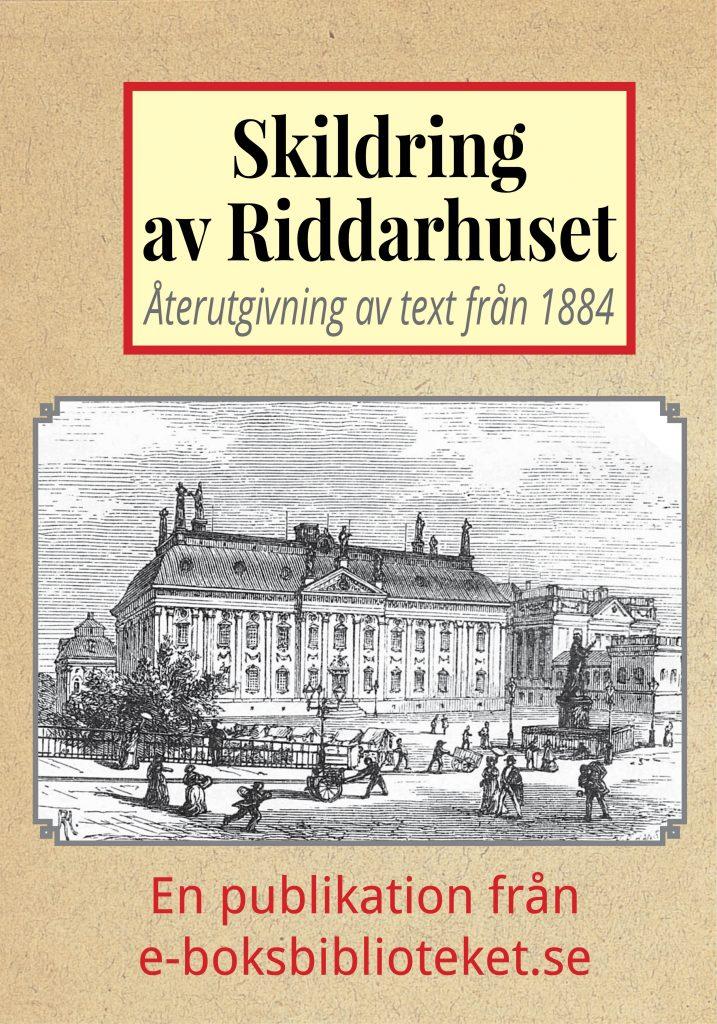 Book Cover: Skildring av Riddarhuset