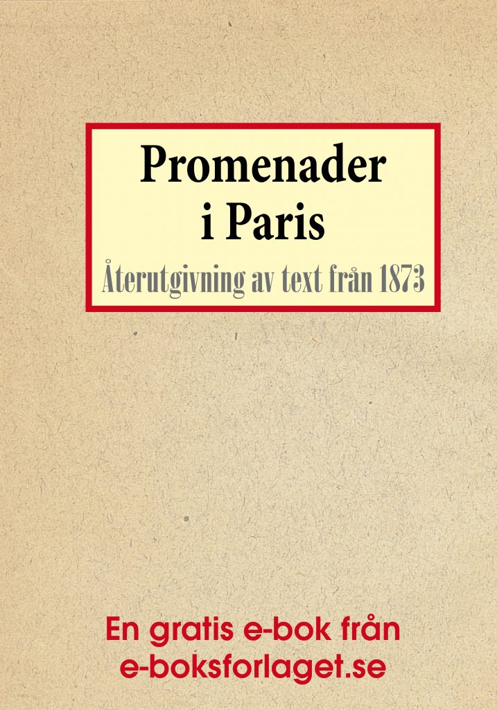 Book Cover: Promenader i Paris