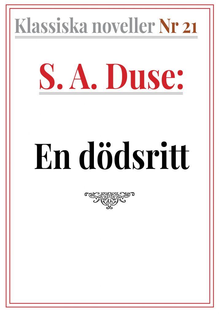 Book Cover: Klassiska noveller 21. S. A. Duse – En dödsritt. Bild från kriget