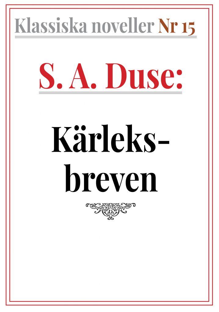 Book Cover: Klassiska noveller 15. S. A. Duse – Kärleksbreven. Berättelse