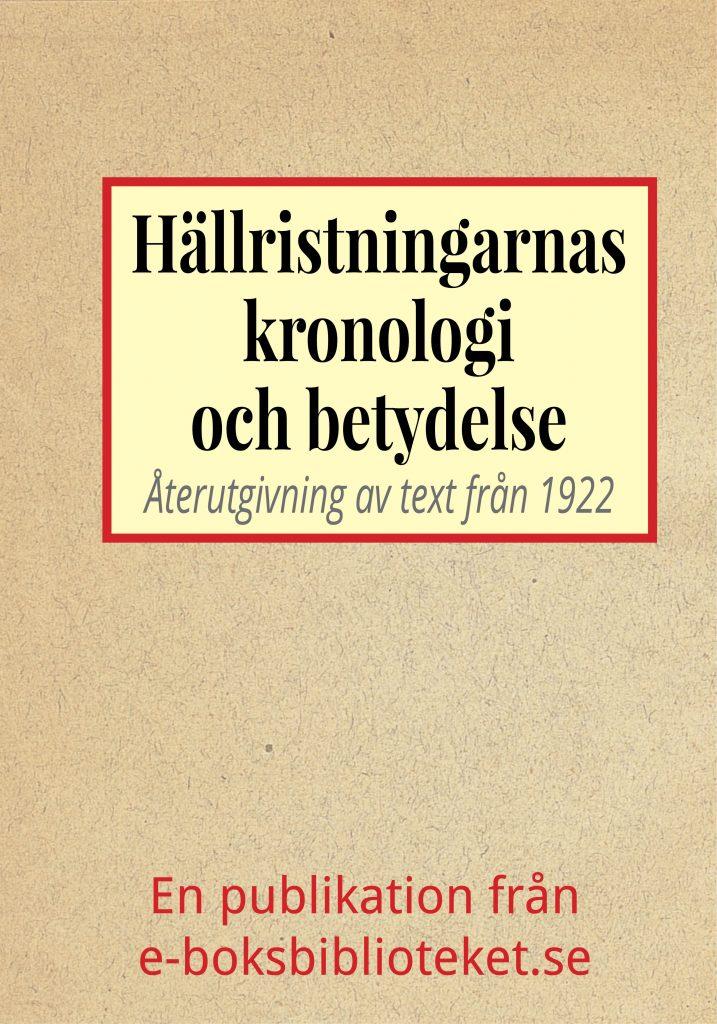 Book Cover: Hällristningarnas kronologi och betydelse