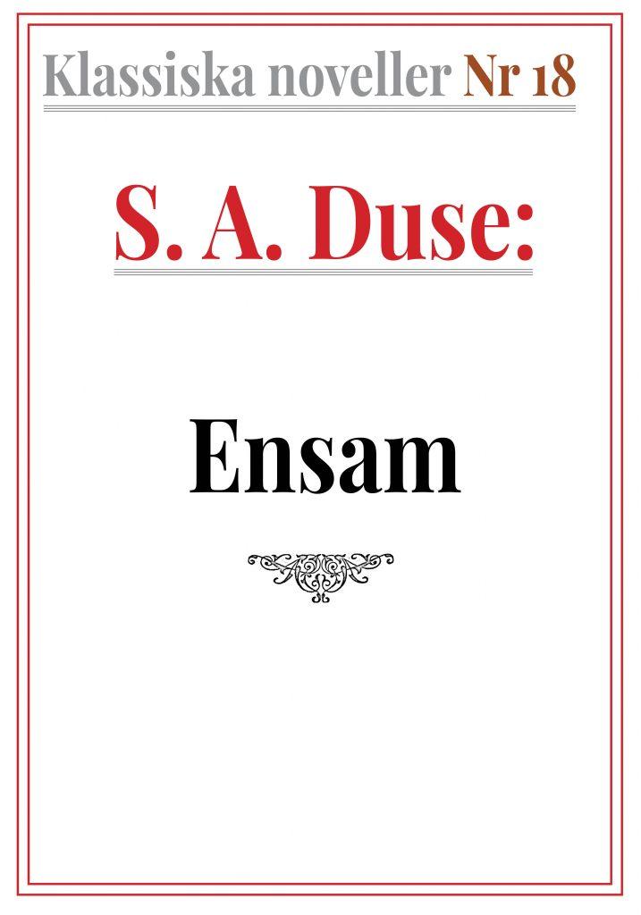 Book Cover: Klassiska noveller 18. S. A. Duse – Ensam