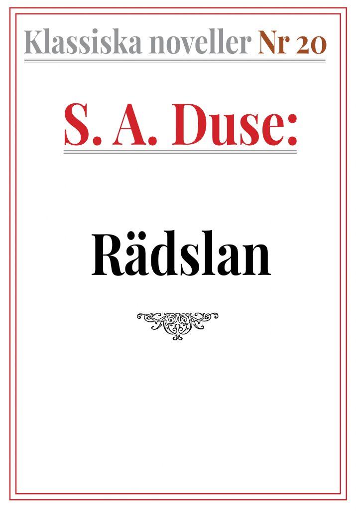 Book Cover: Klassiska noveller 20. S. A. Duse – Rädslan. Skiss