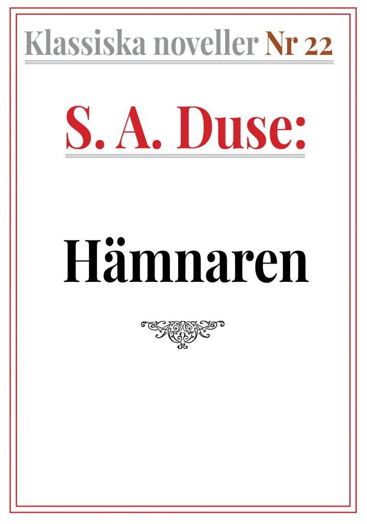 Book Cover: Klassiska noveller 22. S. A. Duse – Hämnaren