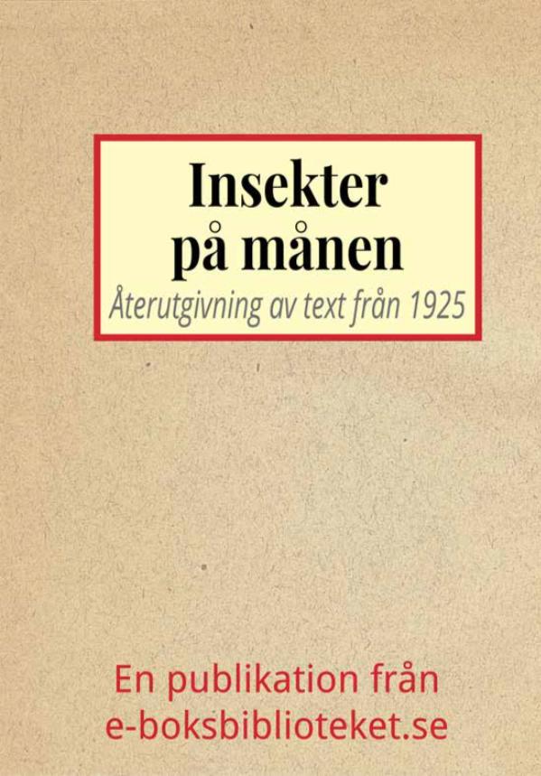 Book Cover: Insekter på månen