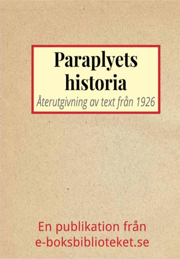 Book Cover: Paraplyets historia