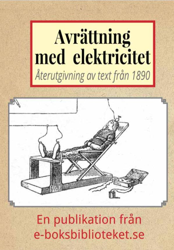 Book Cover: Första avrättningen med elektricitet