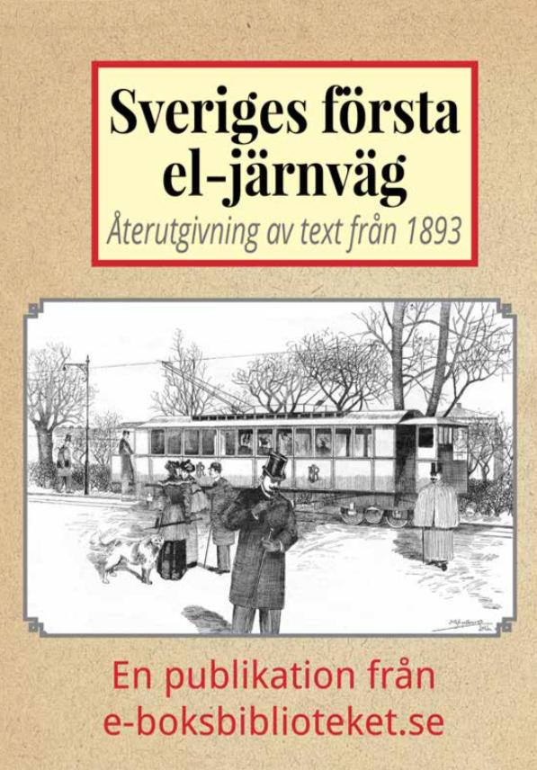 Book Cover: Sveriges första elektriska järnväg