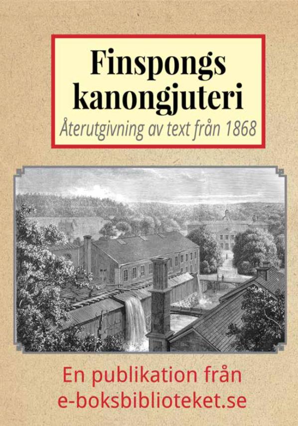 Book Cover: Skildring av Finspongs kanongjuteri