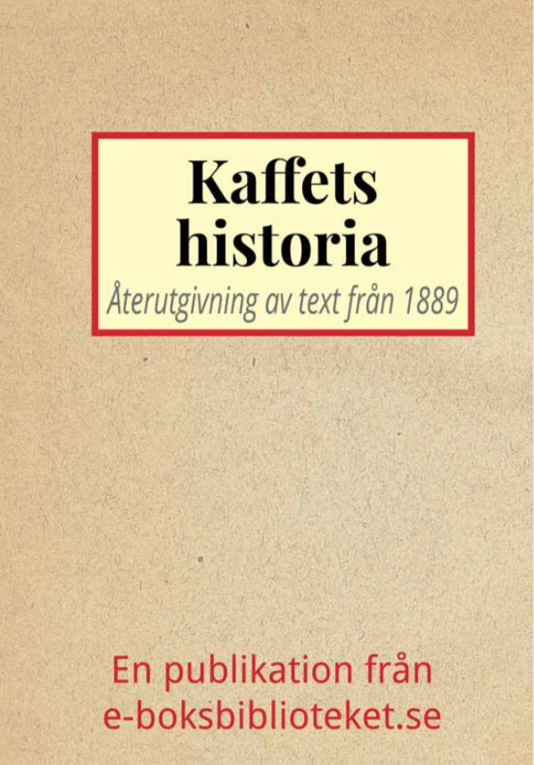 Book Cover: Kaffets historia