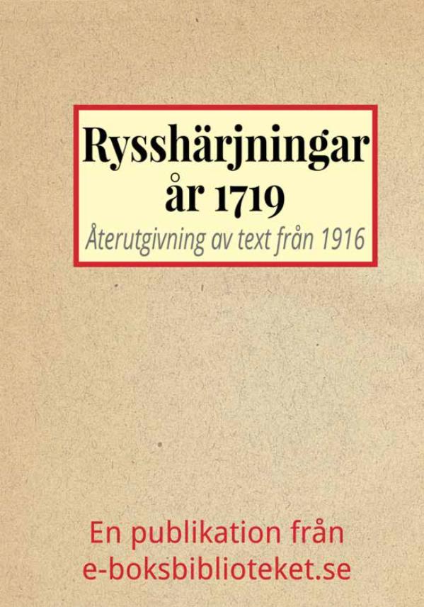 Book Cover: Rysshärjningarna år 1719