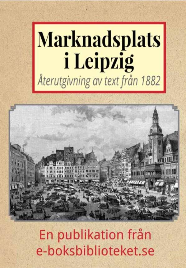 Book Cover: Marknadsplatsen i Leipzig