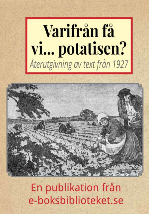 Book Cover: Varifrån få vi… potatisen?