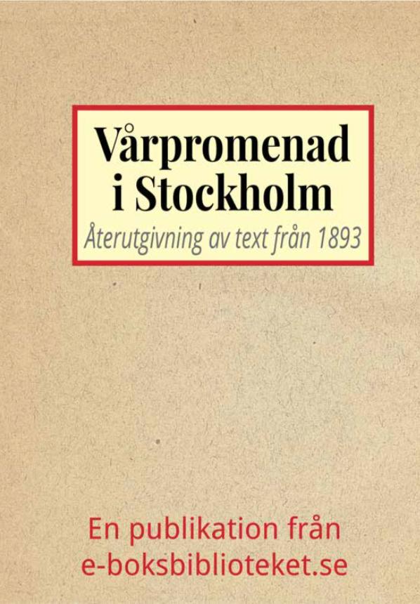 Book Cover: Vårpromenad i Stockholm