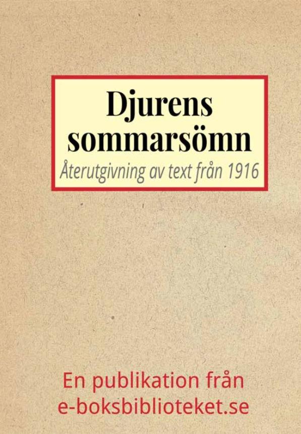 Book Cover: Djurens sommarsömn