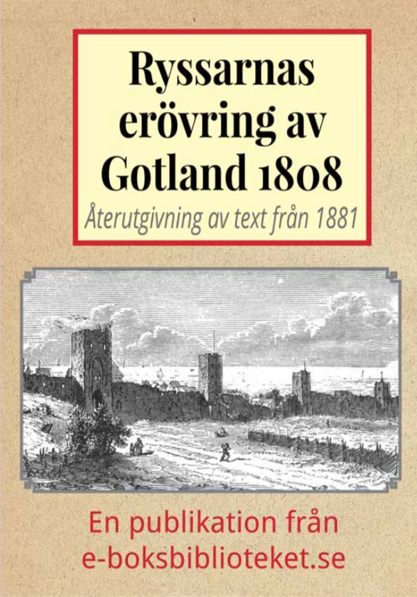 Book Cover: Ryska erövringen av Gotland år 1808