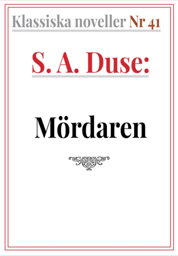 Book Cover: Klassiska noveller 41. S. A. Duse – Mördaren