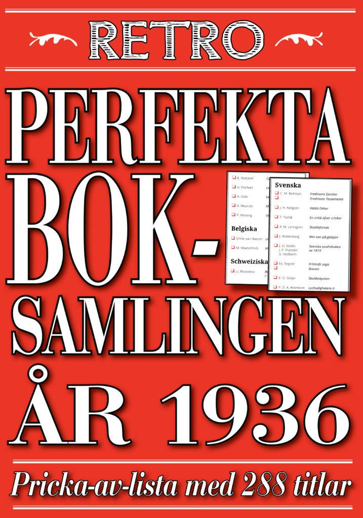 Book Cover: Den perfekta boksamlingen år 1936