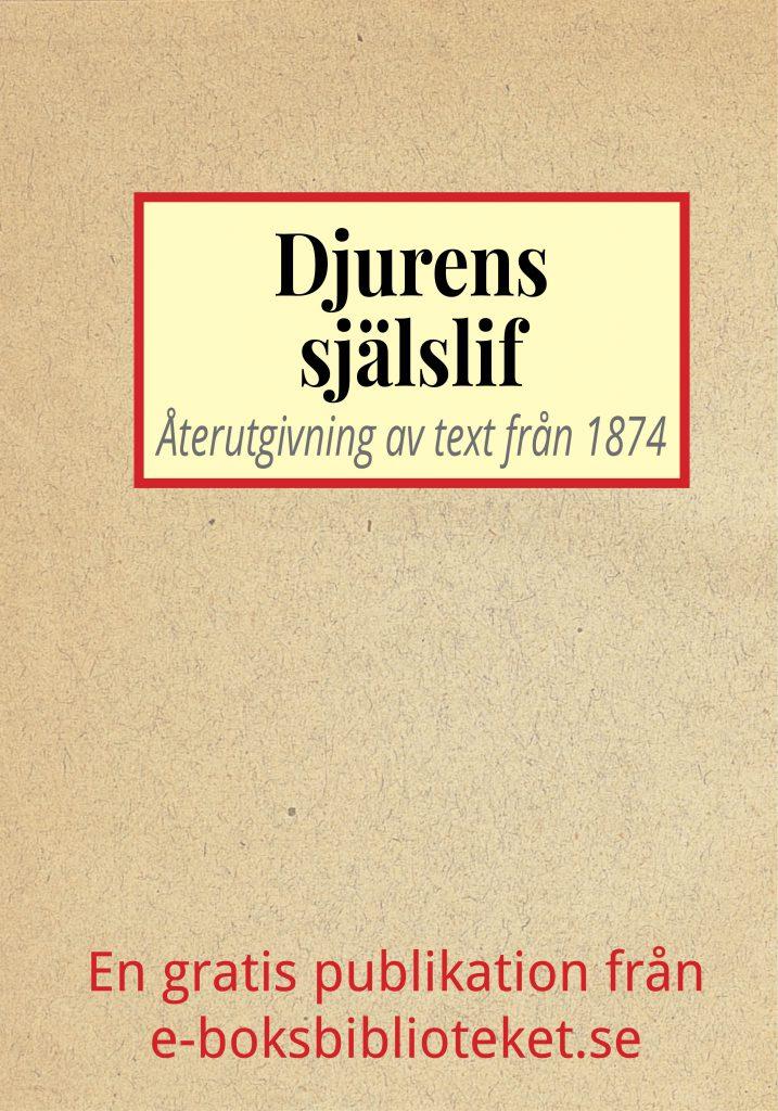 Book Cover: Djurens själslif