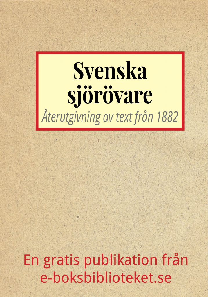 Book Cover: Svenska sjörövare