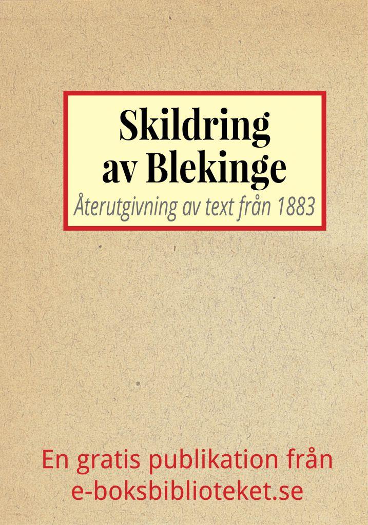 Book Cover: Skildring av Blekinge