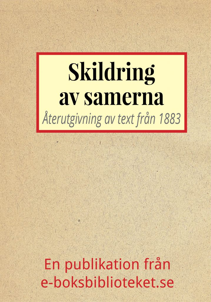 Book Cover: Skildring av samerna