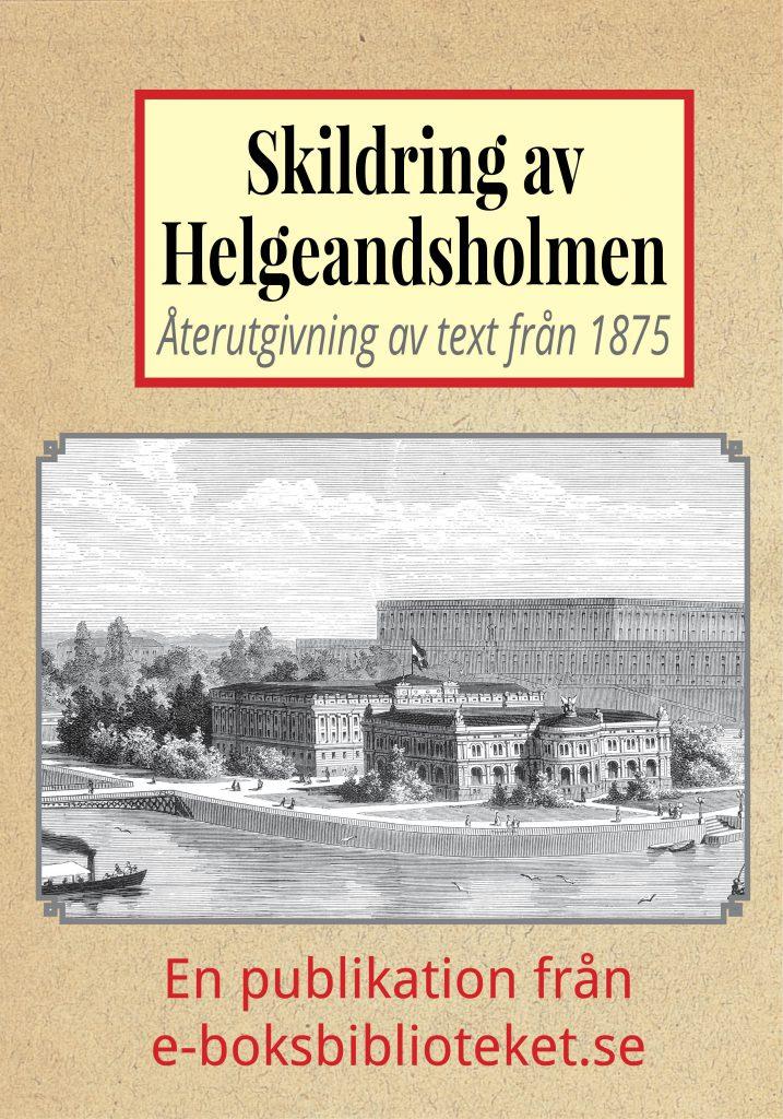 Book Cover: Förslag till ett nytt Helgeandsholmen