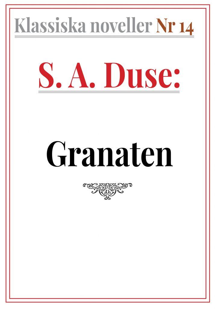 Book Cover: Klassiska noveller 14. S. A. Duse – Granaten