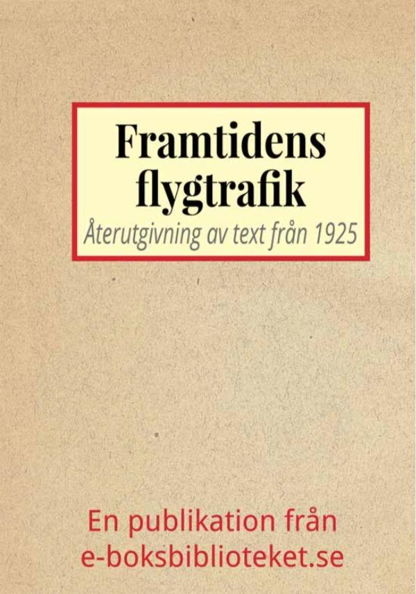 Book Cover: Framtidens flygtrafik