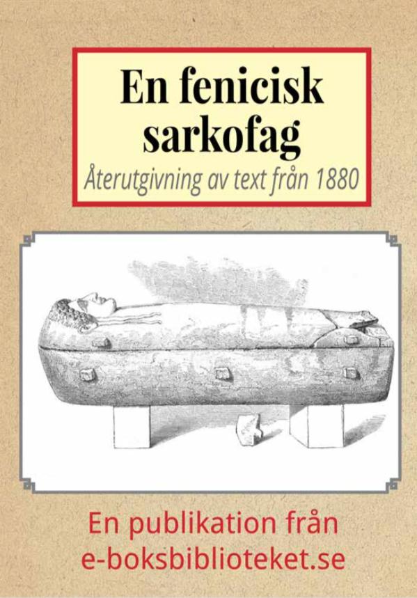 Book Cover: En fenicisk sarkofag