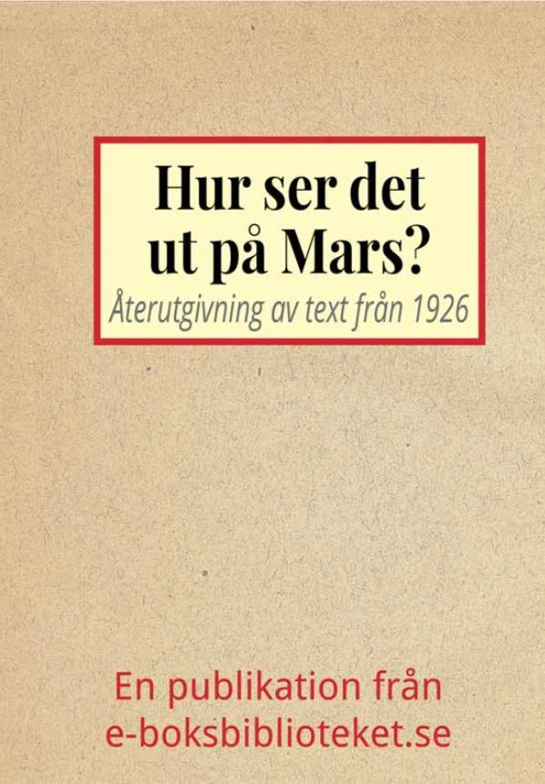 Book Cover: Hur ser det ut på Mars?