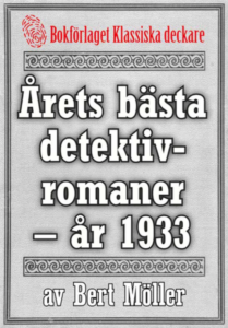 Book Cover: Årets bästa detektivromaner år 1933